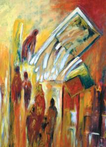 """""""Illumination"""" : est l'intitulé de l'exposition de l'artiste-peintre marocaine Hayat Saidi à la galerie du Salon Virtuel DocExpo durant le mois d'Avril 2017."""