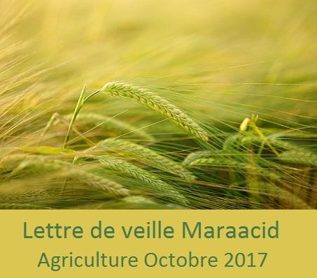 Lettre de veille CND Maraacid Agriculture Octobre 2017