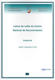 """Publication de la lettre de veille CND Maraacid """"industrie"""""""