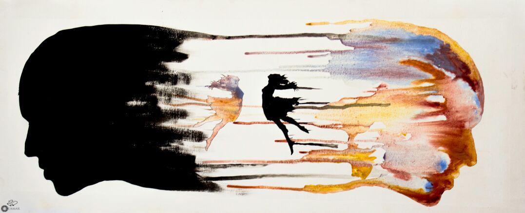 """""""Chuchotement d'âme"""" : est l'intitulé de l'exposition de l'artiste-peintre marocain Adil BERRAJAA  à la galerie du Salon Virtuel DocExpo durant le mois de Septembre 2017."""