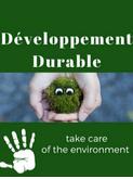 Développement Durable du 26 au 30 Mars 2018